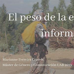 El peso de la economía informal, Marianne Ferreira Crevels
